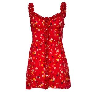 Réalisation Par Julia Dress in Rouge Fleur